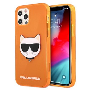 Karl Lagerfeld iPhone 12 Pro Max Case Cover Hülle orange Choupette Fluo