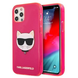 Karl Lagerfeld iPhone 12 Pro Max Case Cover Hülle pink Choupette Fluo