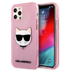 Karl Lagerfeld iPhone 12 Pro Max Case Cover Hülle rose Choupette Fluo