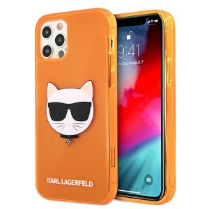 Karl Lagerfeld iPhone 12 / 12 Pro Case Cover Hülle orange Choupette Fluo