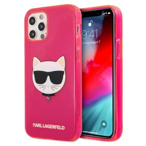 Karl Lagerfeld iPhone 12 / 12 Pro Case Cover Hülle pink Choupette Fluo