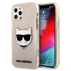 Karl Lagerfeld iPhone 12 / 12 Pro Case Cover Hülle gold Choupette Fluo