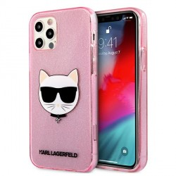 Karl Lagerfeld iPhone 12 / 12 Pro Case Cover Hülle rose Choupette Fluo