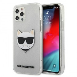 Karl Lagerfeld iPhone 12 / 12 Pro Case Cover Hülle silber Choupette Fluo