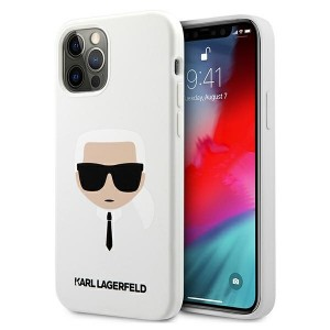 Karl Lagerfeld iPhone 12 / 12 Pro Case Cover Hülle Silikon Head weiß