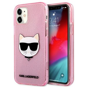 Karl Lagerfeld iPhone 12 mini Case Cover Hülle rose Choupette Fluo