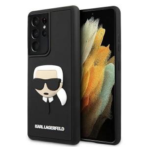Karl Lagerfeld Samsung S21 Ultra Case Cover Hülle Silikon Head schwarz
