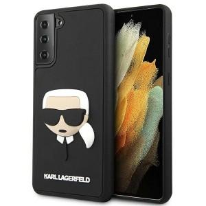 Karl Lagerfeld Samsung S21+ Plus Case Cover Hülle Silikon Head schwarz