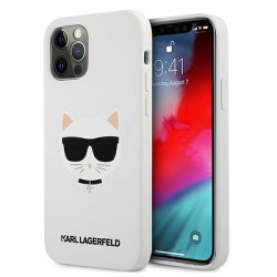Karl Lagerfeld iPhone 12 Pro Max Silikon Case Cover Hülle Choupette Weiß