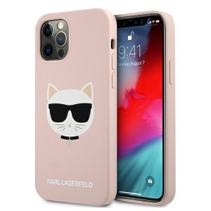 Karl Lagerfeld iPhone 12 / 12 Pro Silikon Case Cover Hülle Choupette Rose