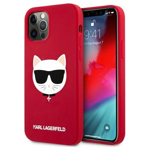 Karl Lagerfeld iPhone 12 / 12 Pro Silikon Case Cover Hülle Choupette Rot