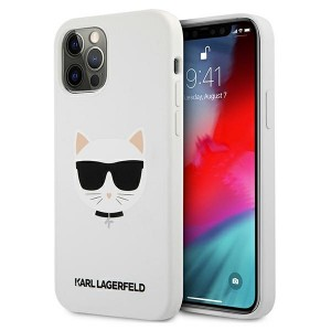Karl Lagerfeld iPhone 12 / 12 Pro Silikon Case Cover Hülle Choupette Weiß