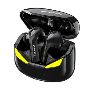 AWEI Bluetooth 5.0 T35 TWS Kopfhörer + Gaming Dock Schwarz