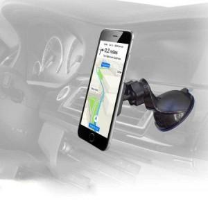 Magnetischer Autohalter auf die Windschutzscheibe oder das Board geklebt