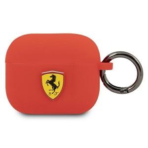 Ferrari AirPods 3 Case Cover Hülle Silikon Rot FEA3SILRE