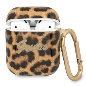 Guess AirPods 1 / 2 Case Cover Hülle Kollektion Leopard