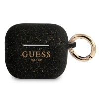 Guess AirPods 3 Case Cover Hülle Silikon Glitzer schwarz