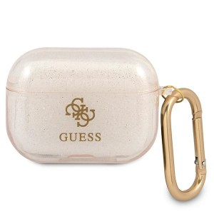 Guess AirPods Pro Case Cover Hülle Kollektion Glitzer Gold