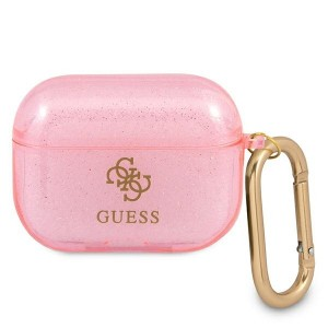Guess AirPods Pro Case Cover Hülle Kollektion Glitzer pink