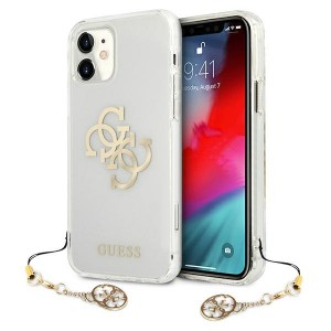 Guess iPhone 11 Case Cover Hülle Transparent 4G Gold Charms