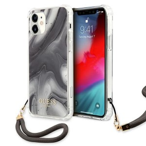 Guess iPhone 11 Case Cover Hülle Marmor Grau