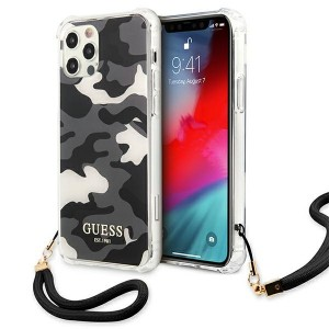 Guess iPhone 12 Pro Max Case Cover Hülle schwarz Camo