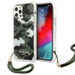 Guess iPhone 12 Pro Max Case Cover Hülle khaki Camo