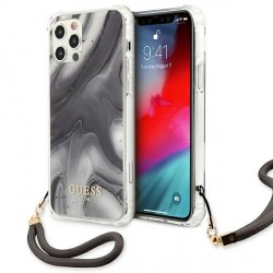 Guess iPhone 12 Pro Max Case Cover Hülle Marmor Grau