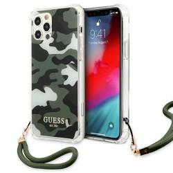 Guess iPhone 12 / 12 Pro Case Cover Hülle Khaki Camo