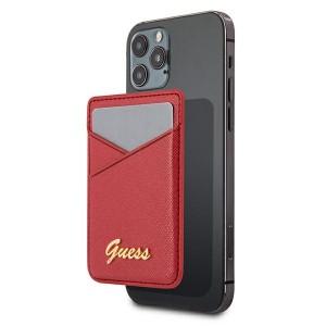 Guess MagSafe Card Slot Kartenhülle Saffiano Rot