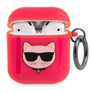 Karl Lagerfeld AirPods 1 / 2 Case Cover Hülle Choupette pink