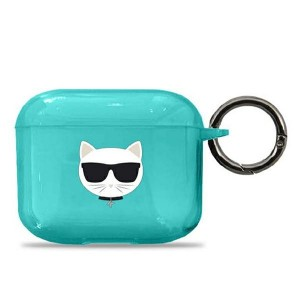 Karl Lagerfeld AirPods 3 Case Cover Hülle Blau Choupette