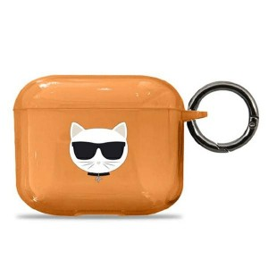 Karl Lagerfeld AirPods 3 Case Cover Hülle orange Choupette