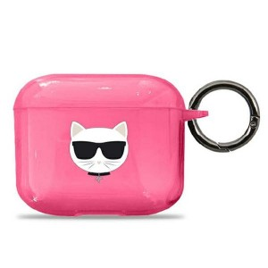 Karl Lagerfeld AirPods 3 Case Cover Hülle Pink Choupette