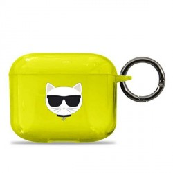 Karl Lagerfeld AirPods 3 Case Cover Hülle Neon Gelb Choupette