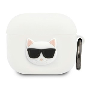 Karl Lagerfeld AirPods 3 Case Cover Hülle Silikon weiß Choupette