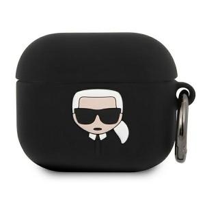Karl Lagerfeld AirPods 3 Silikon Case Cover Hülle schwarz Ikonik