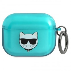 Karl Lagerfeld AirPods Pro Case Cover Hülle Choupette Blau