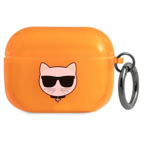 Karl Lagerfeld AirPods Pro Case Cover Hülle Choupette orange