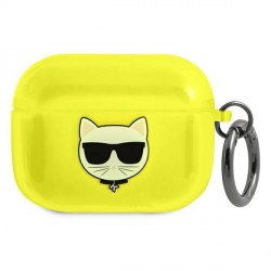 Karl Lagerfeld AirPods Pro Case Cover Hülle Choupette Neon Gelb
