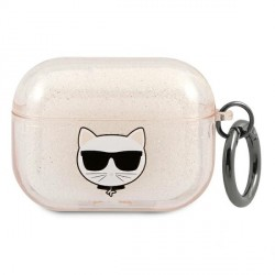 Karl Lagerfeld AirPods Pro Case Cover Hülle Choupette gold Glitter