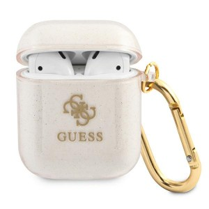 Guess AirPods 1 / 2 Case Cover Hülle Kollektion Glitzer Gold