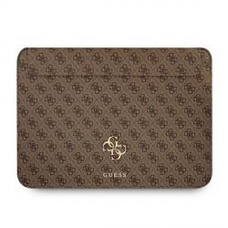 """Guess Notebook / Tablet Hülle 13"""" Saffiano Big Logo 4G Braun"""