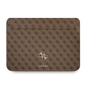 """Guess Notebook / Tablet Tasche Hülle 13"""" Saffiano Big Logo 4G Braun"""