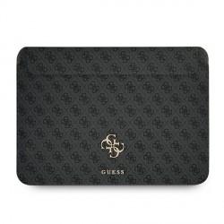"Guess Notebook / Tablet Hülle 13"" Saffiano Big Logo 4G Grau"
