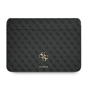 """Guess Notebook / Tablet Hülle 13"""" Saffiano Big Logo 4G Schwarz"""