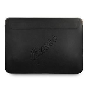 """Guess Notebook / Tablet Hülle 13"""" Saffiano Logo Script Schwarz"""