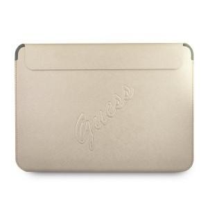 """Guess Notebook / Tablet Schutzhülle 13"""" Saffiano Logo Script Gold"""