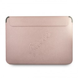 "Guess Notebook / Tablet Hülle 13"" Saffiano Logo Script Rose"