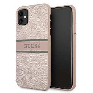 Guess iPhone 11 Case Cover Hülle 4G Stripe Rose